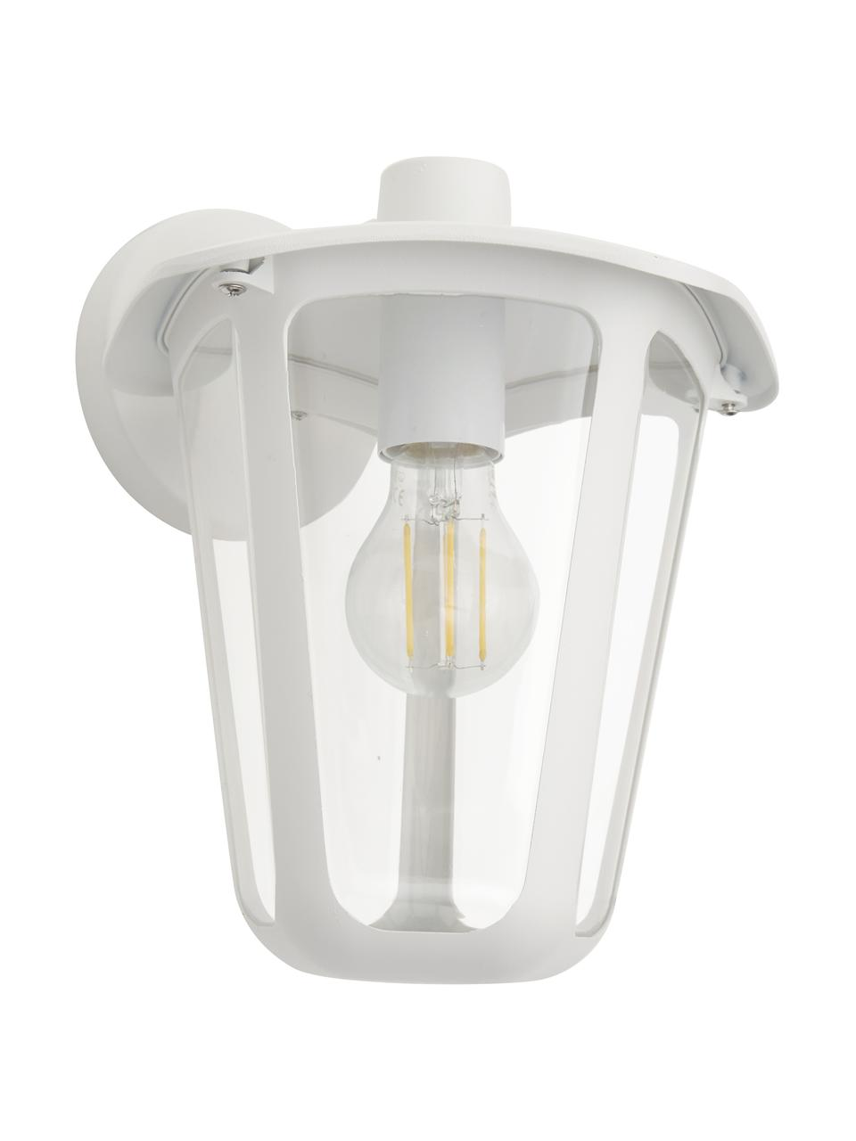Außenwandleuchte Monreale in Weiß, Gehäuse: Aluminium, Lampenschirm: Kunststoff, Weiß, 23 x 28 cm