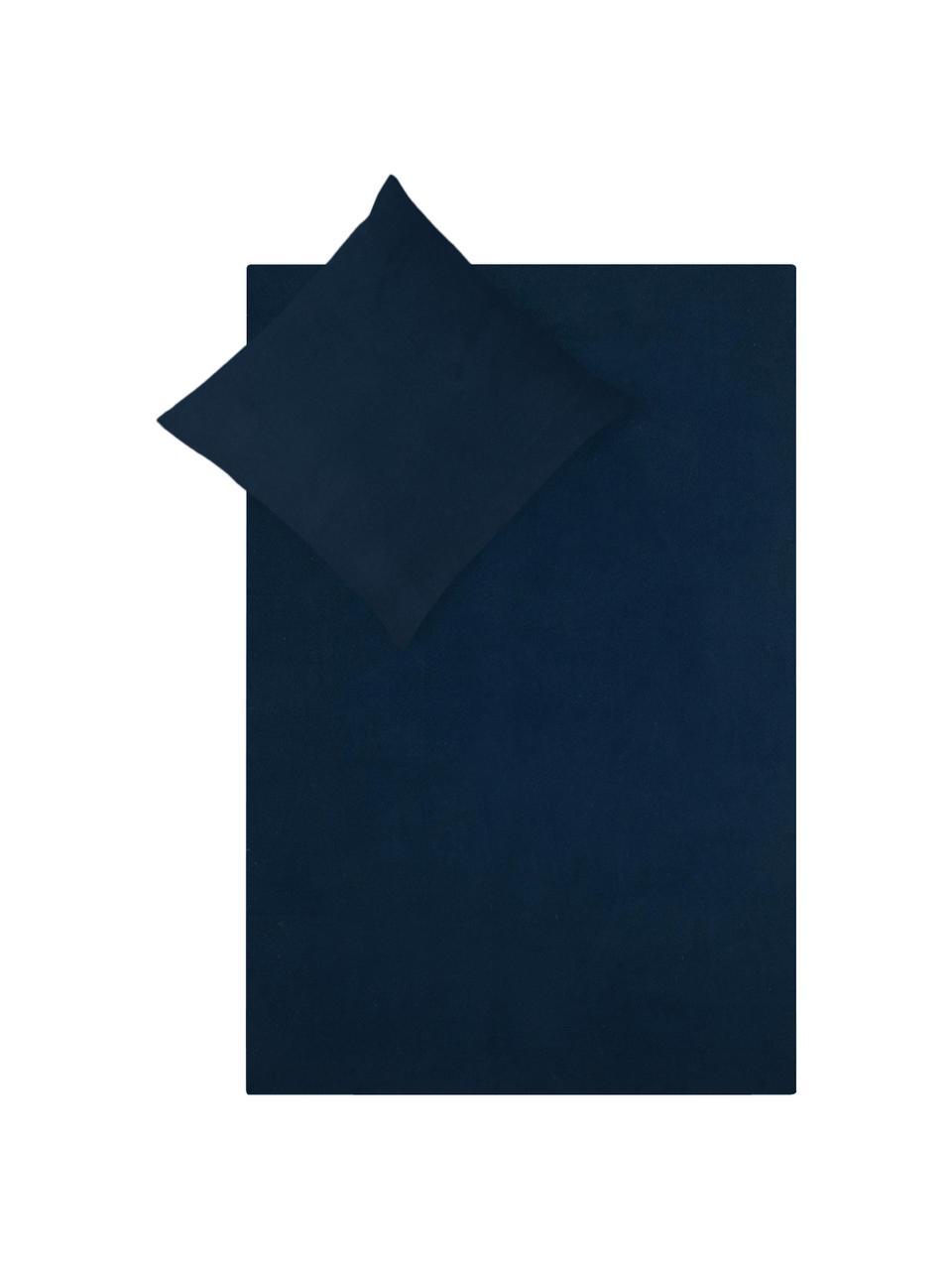 Flanell-Bettwäsche Biba in Navyblau, Webart: Flanell Flanell ist ein k, Navyblau, 135 x 200 cm + 1 Kissen 80 x 80 cm
