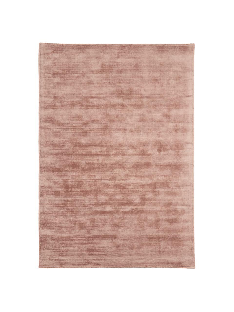 Tappeto in viscosa tessuto a mano Jane, Retro: 100% cotone, Terracotta, Larg. 200 x Lung. 300 cm (taglia L)