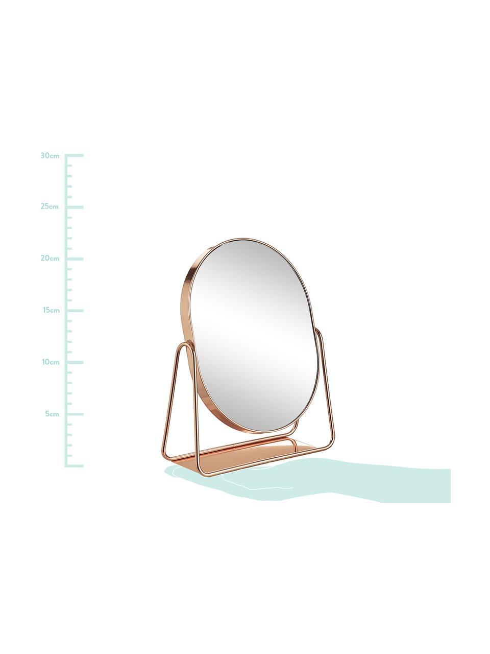 Miroir ovale de salle de bain Gloria, Couleur or rose