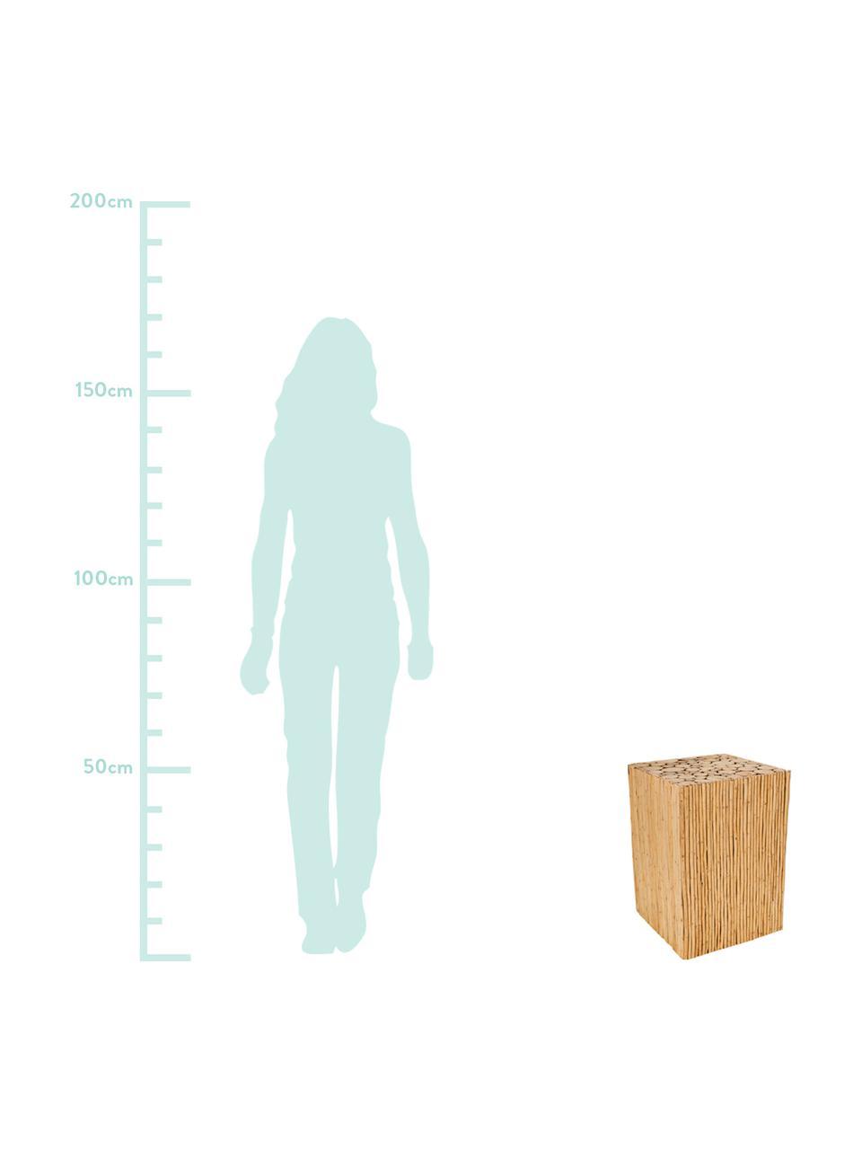 Taburete Eva, Madera, Beige, An 34 x Al 47 cm