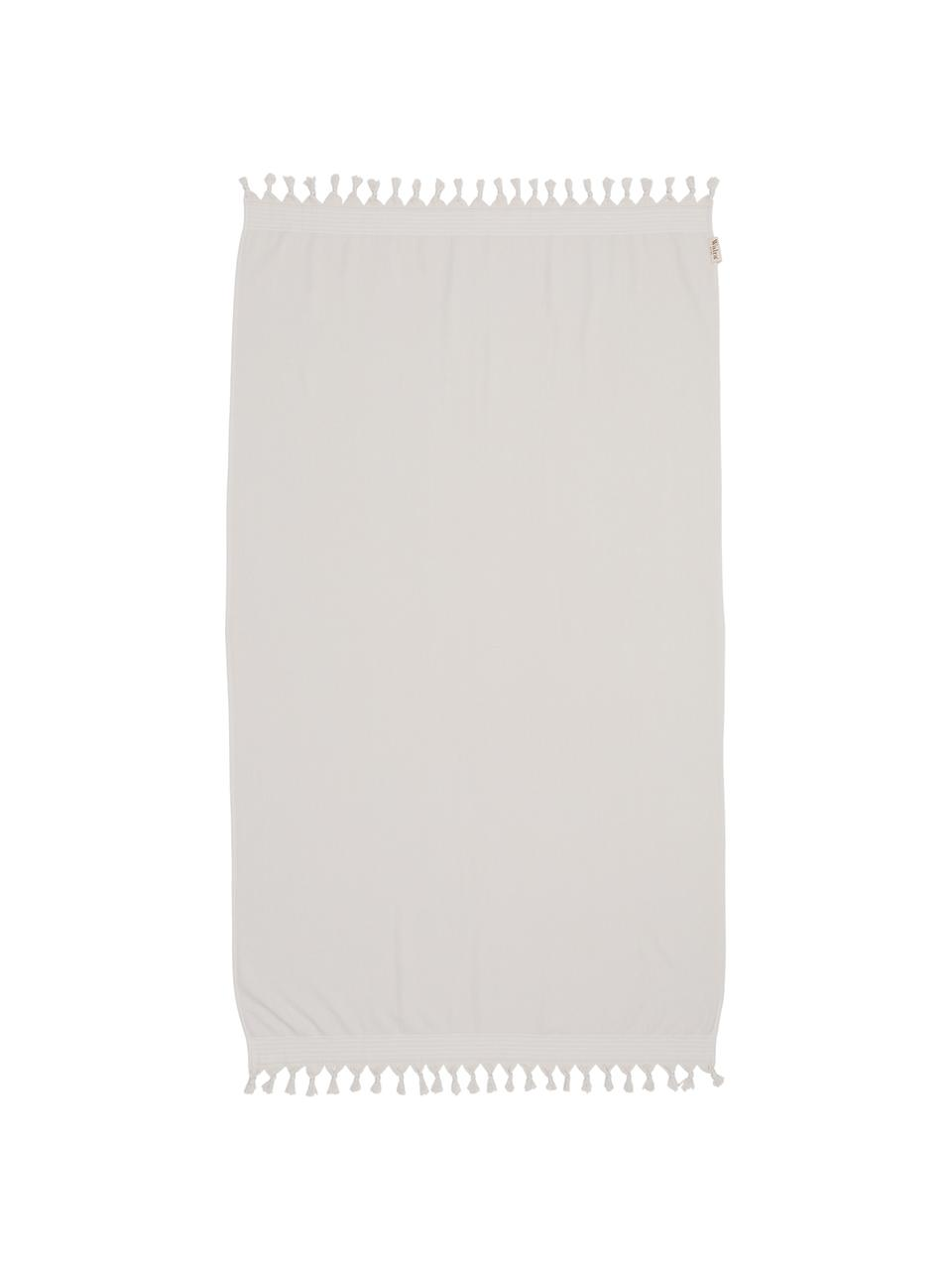 Telo mare Soft Cotton, Retro: Terry, Beige chiaro, bianco, Larg. 100 x Lung. 180 cm
