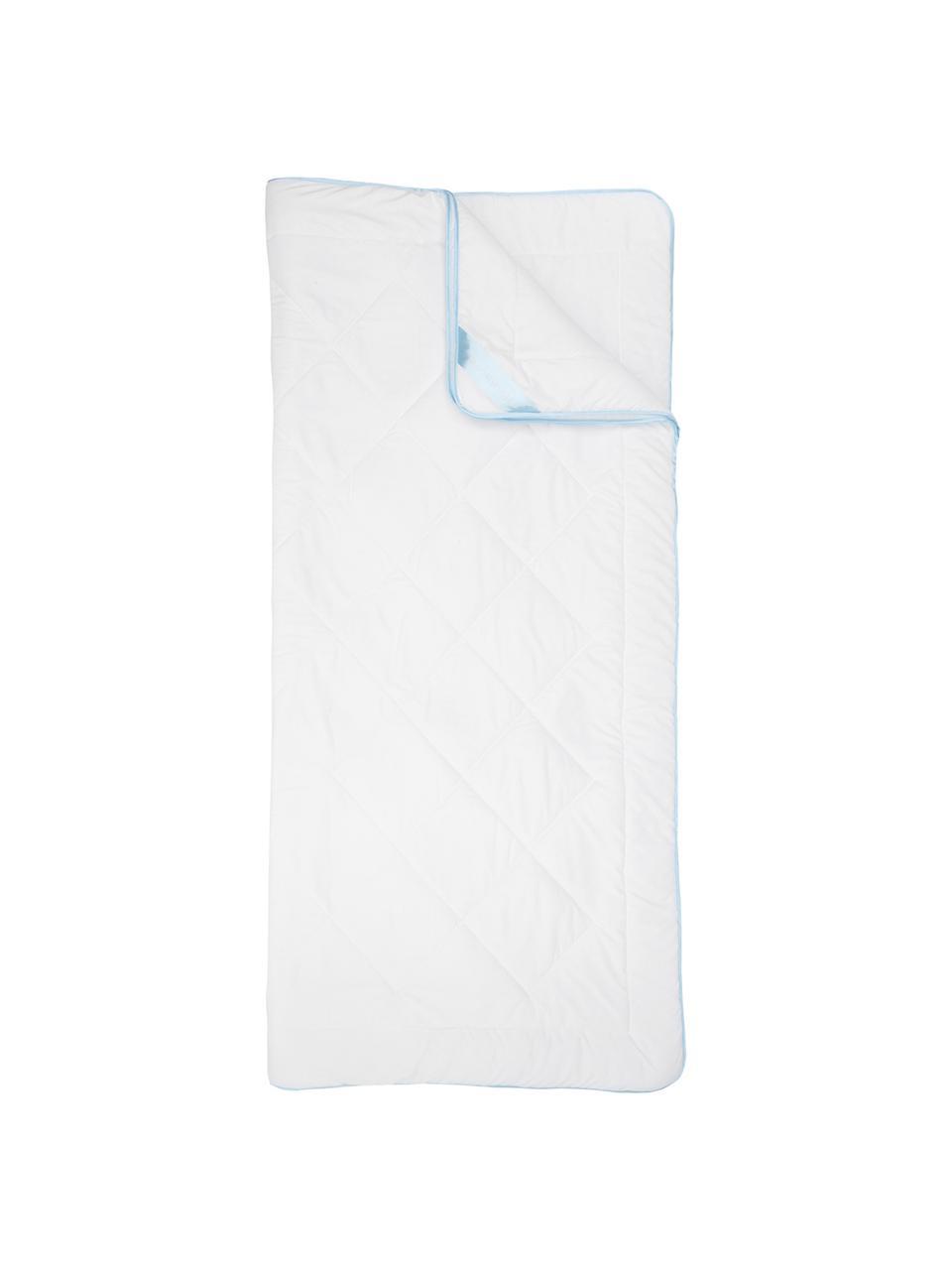 Microfaser-Bettdecke, Vierjahreszeiten, Bezug: Microfaser mit Rautenstep, Weiß, 135 x 200 cm