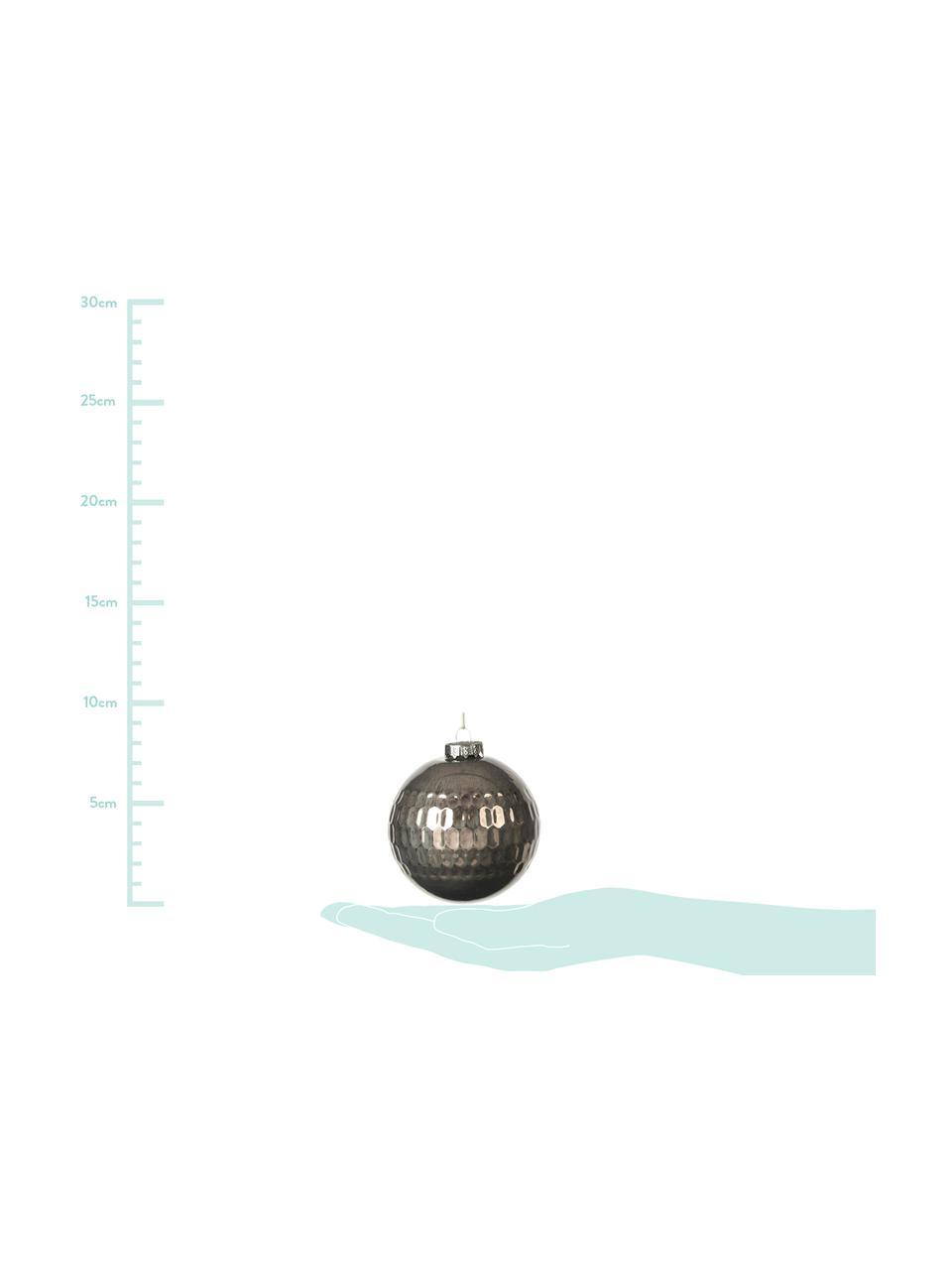 Set palle di natale Grafik Ø 8 cm, 3 pz, Verde scuro, Ø 8 cm