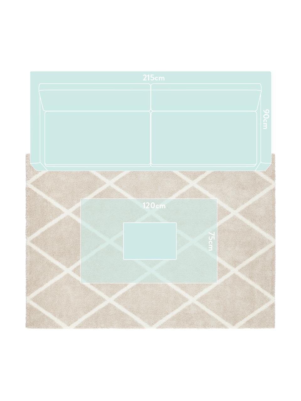 Koberec sdiamantovým vzorem Lunel, Béžová, krémová