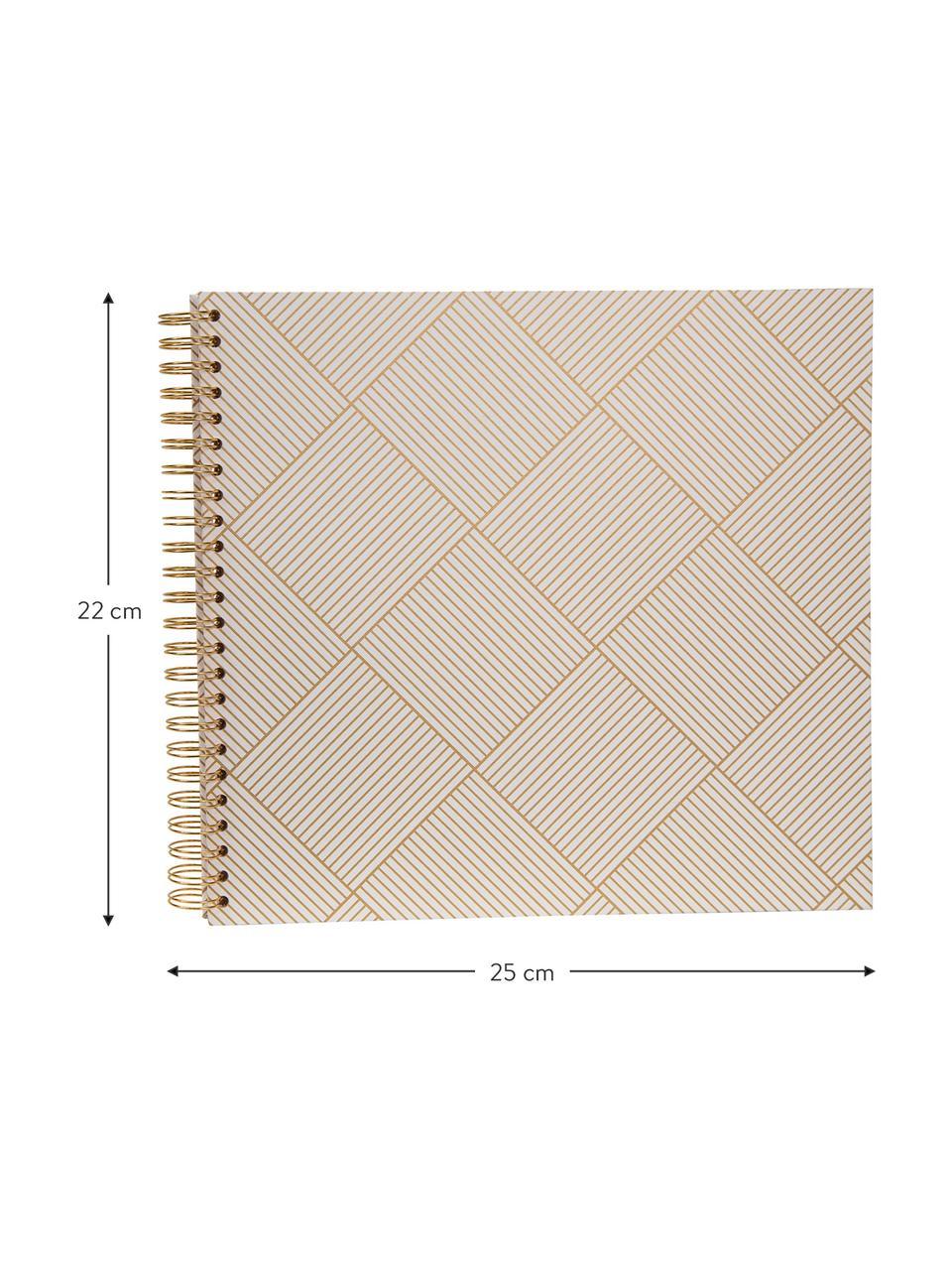 Fotoalbum Picture, Goldfarben, Weiß, 25 x 22 cm