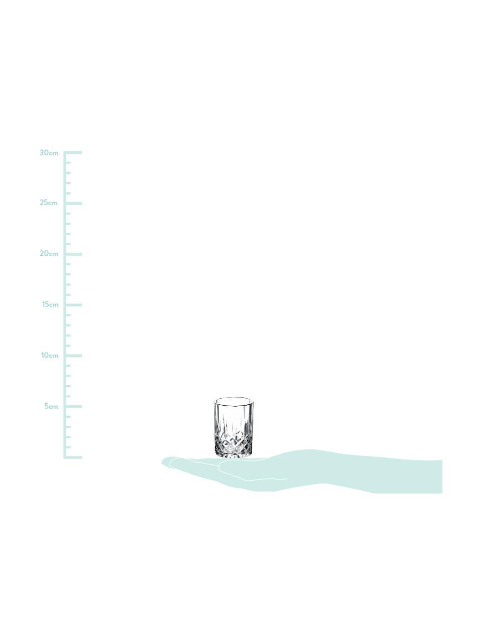 Kieliszek do wódki Harvey, 4 szt., Szkło, Transparentny, Ø 4 x W 6 cm