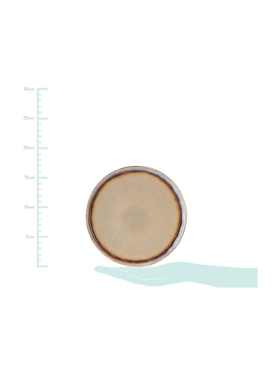 Ręcznie wykonany talerz deserowy Nomimono, 2 szt., Kamionka, Szary, greige, Ø 17 cm