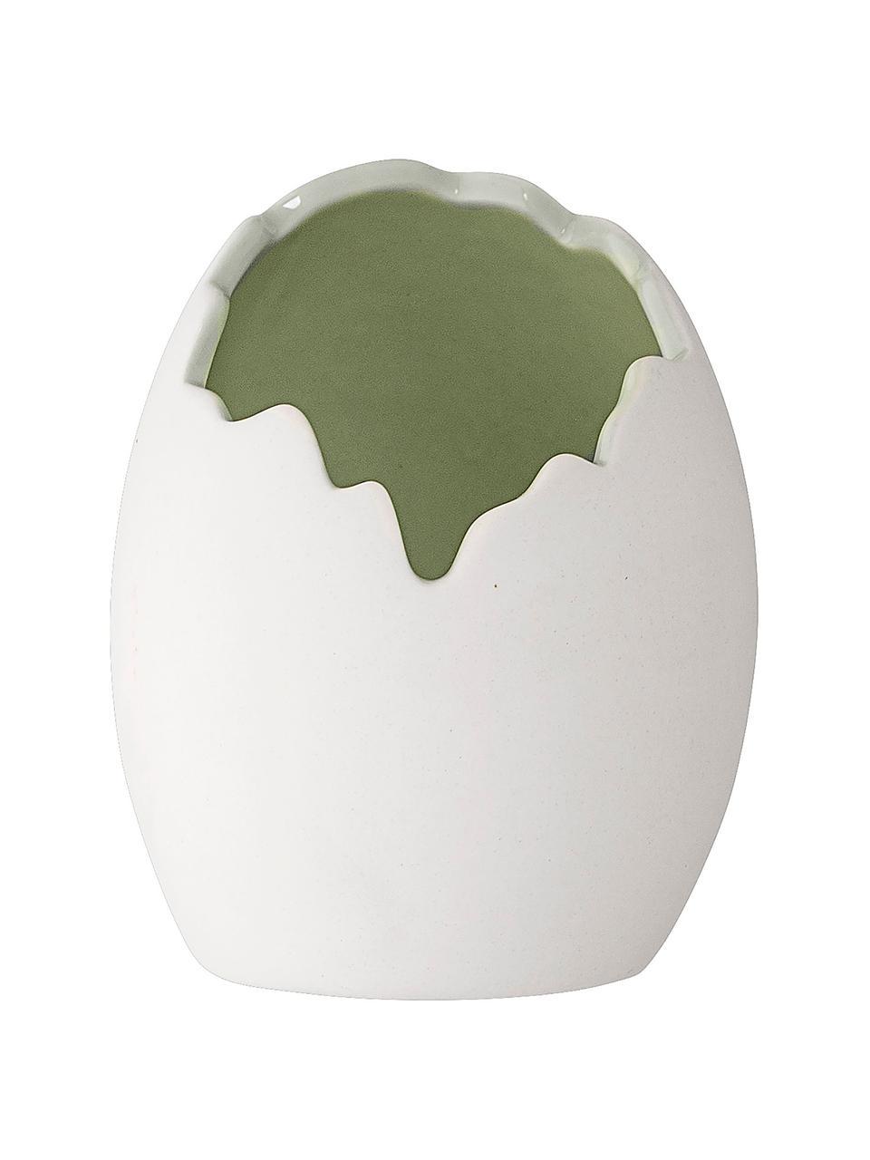 Porzellan-Vase Rona in Weiß, Porzellan, Weiß, Ø 9 x H 10 cm