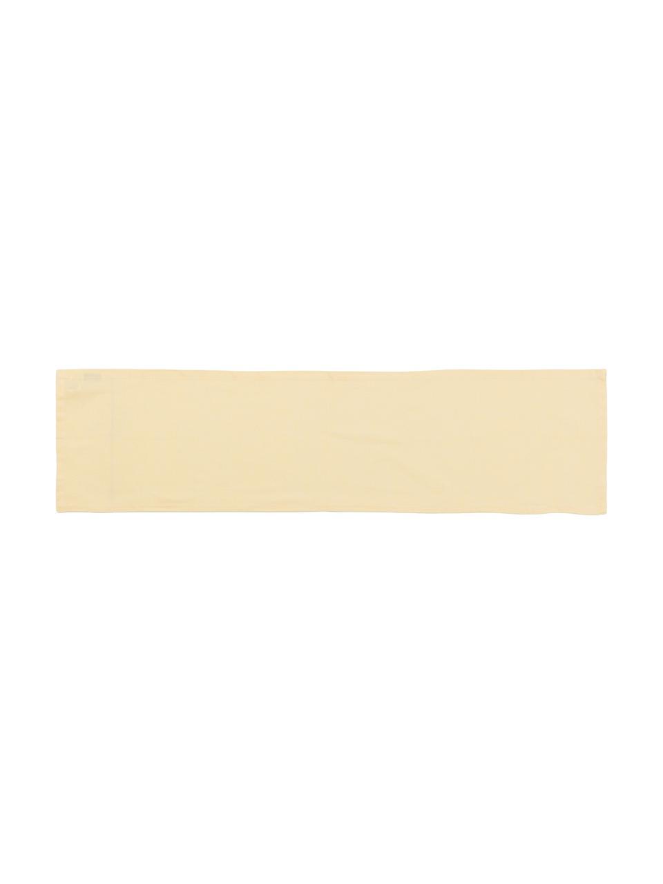 Runner in misto cotone giallo chiaro Riva, Giallo, Larg. 40 x Lung. 150 cm