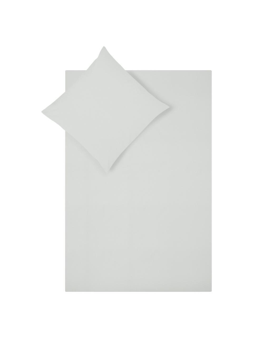 Baumwollperkal-Bettwäsche Elsie in Hellgrau, Webart: Perkal Fadendichte 200 TC, Hellgrau, 135 x 200 cm + 1 Kissen 80 x 80 cm