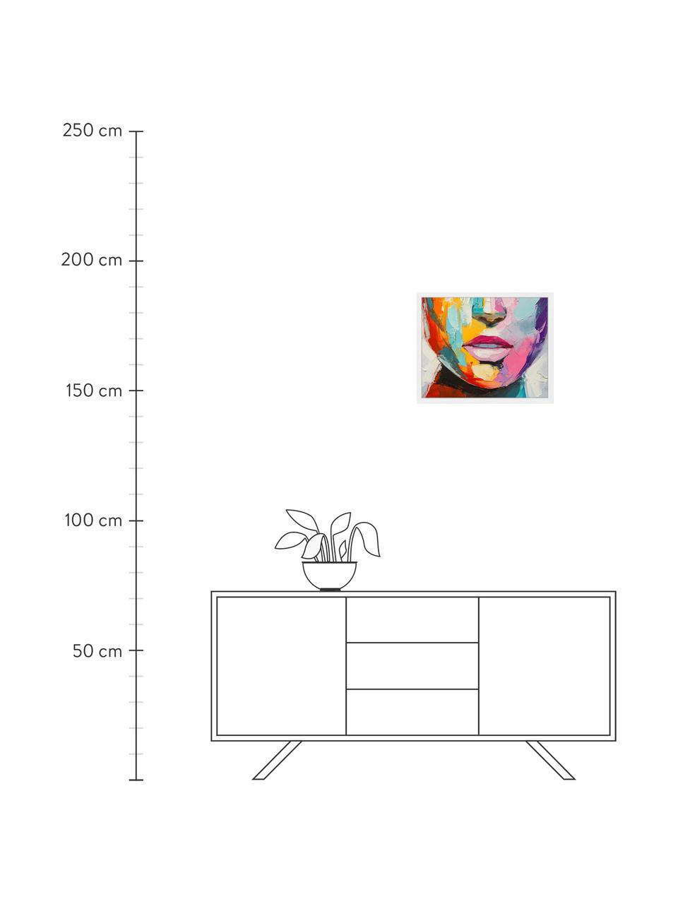 Gerahmter Digitaldruck Colorful Emotions, Bild: Digitaldruck auf Papier, , Rahmen: Holz, lackiert, Front: Plexiglas, Mehrfarbig, 63 x 53 cm