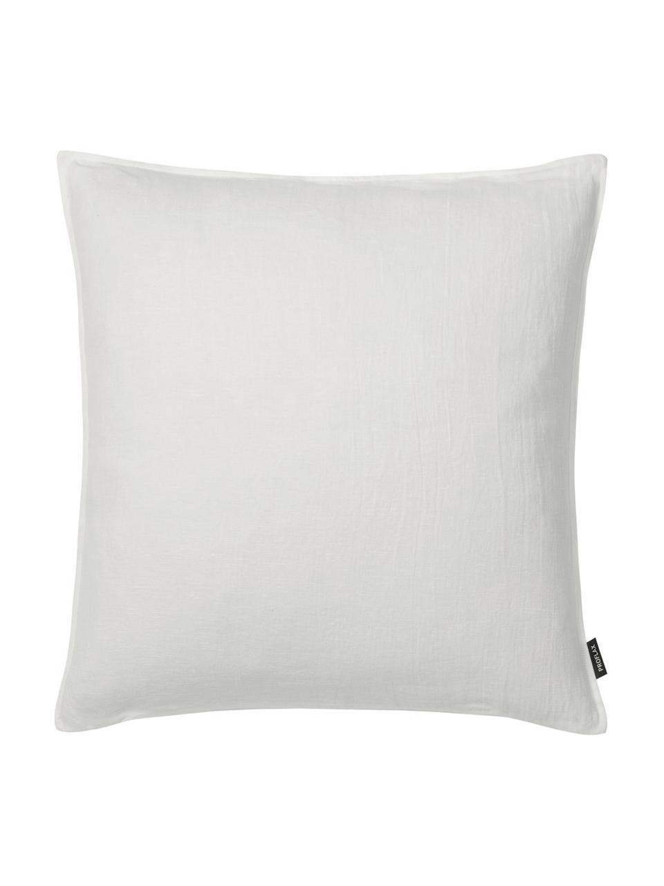Federa arredo in lino avorio Sven, Lino, Bianco latteo, Larg. 50 x Lung. 50 cm