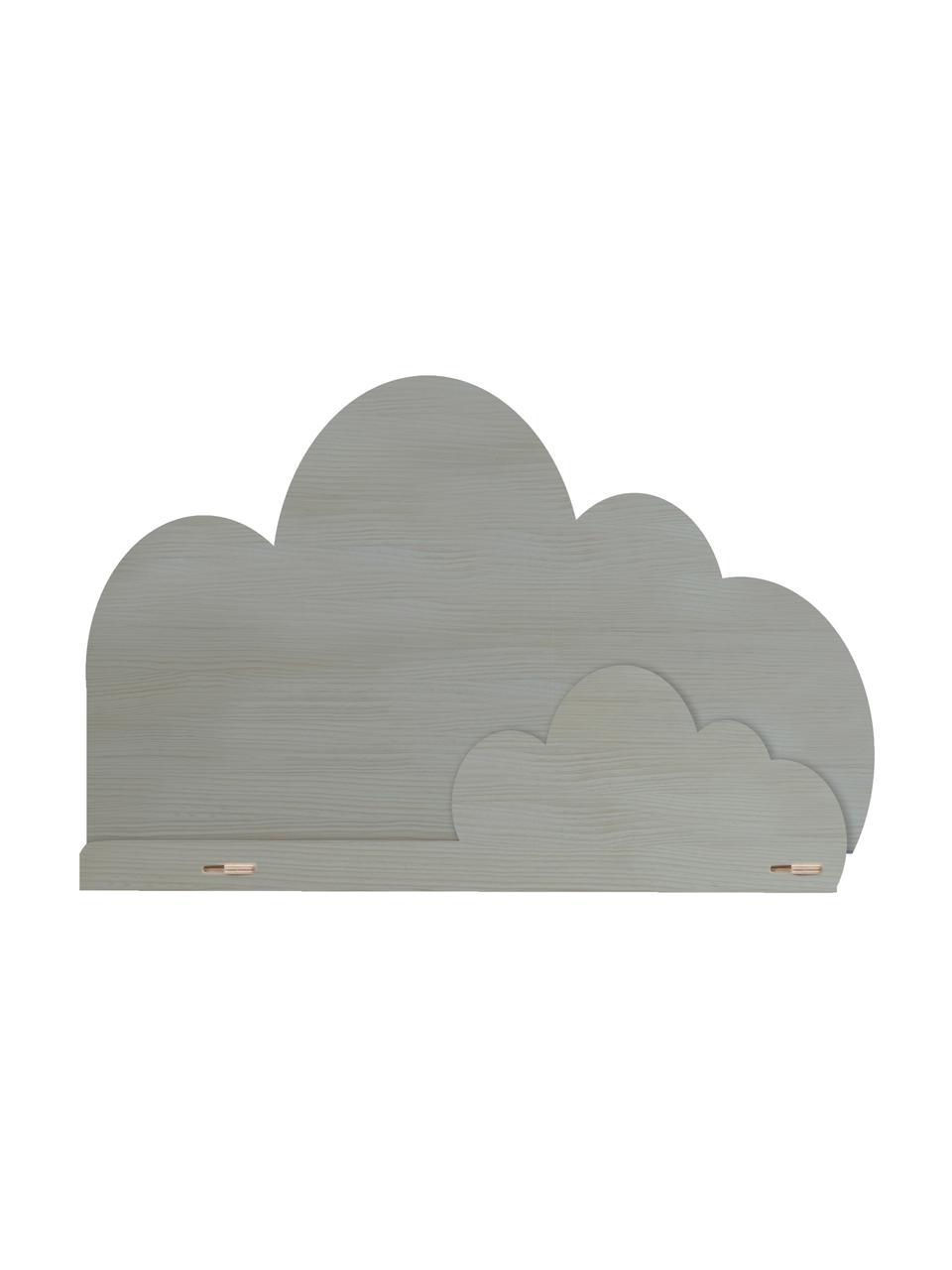 Wandregal Cloud, Sperrholz, beschichtet, Grau, 45 x 30 cm