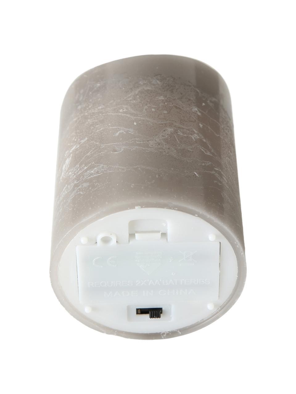 Vela LED Bino, Gris, Ø 8 x Al 12 cm