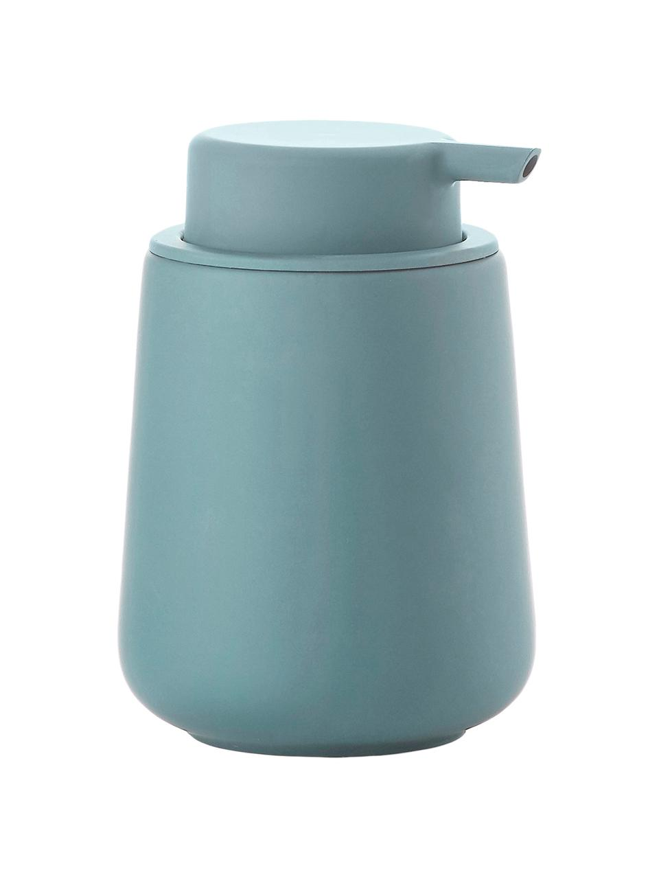 Dosatore di sapone in porcellana Nova, Contenitore: terracotta rivestita con , Blu, Ø 10 x Alt. 14 cm