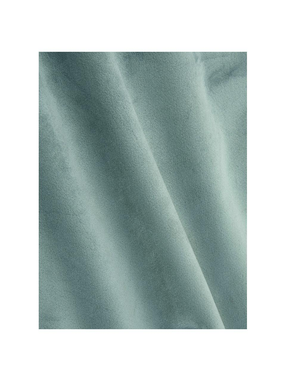Federa arredo in velluto Caja, 100% velluto di poliestere, Verde menta, Larg. 30 x Lung. 50 cm