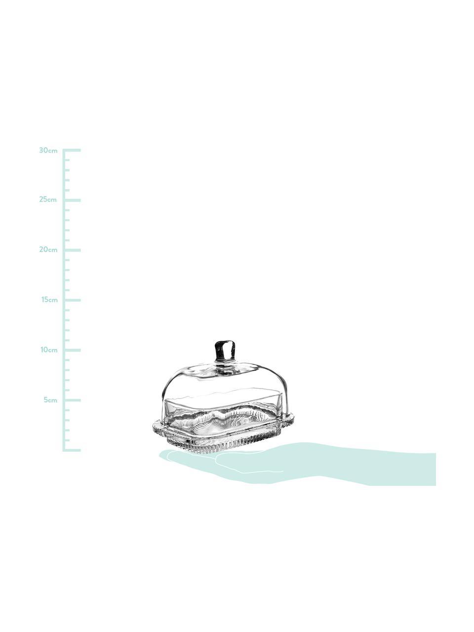 Maselniczka Nymphea, Szkło, Transparentny, S 17 x W 11 cm