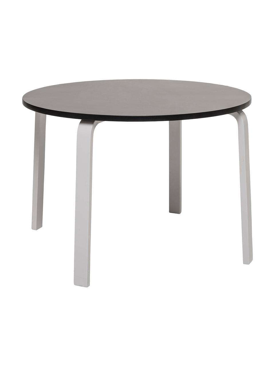 Tisch Simply, Mitteldichte Holzfaserplatte (MDF), lackiert, Schwarz, Weiß, Ø 65 x H 45 cm