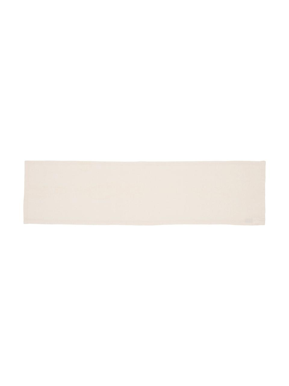 Tafelloper Riva van katoenmix in beige, 55%katoen, 45%polyester, Beige, 40 x 150 cm