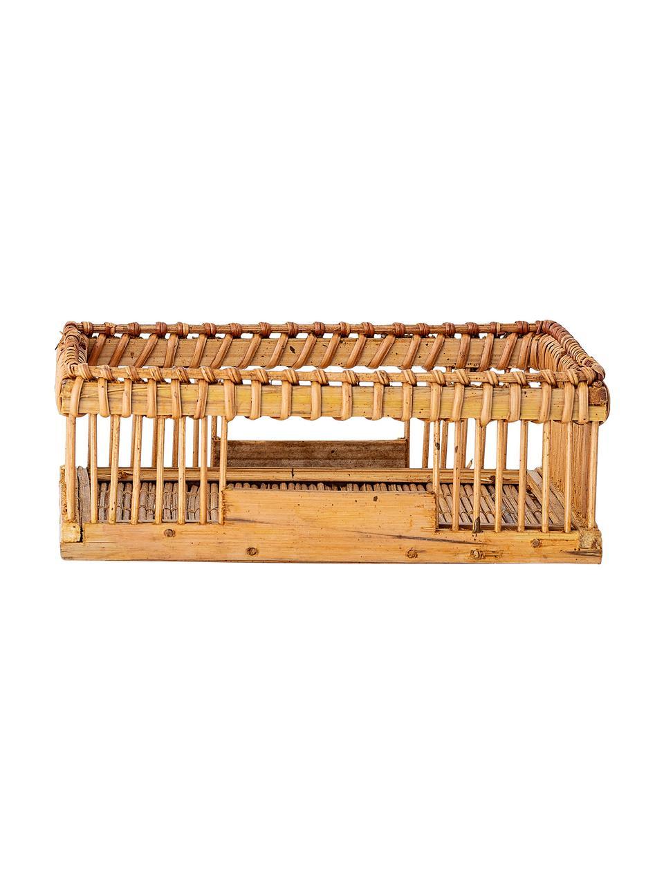 Bambus-Serviettenhalter Lamgo, Bambus, Bamboo, B 18 x T 18 cm