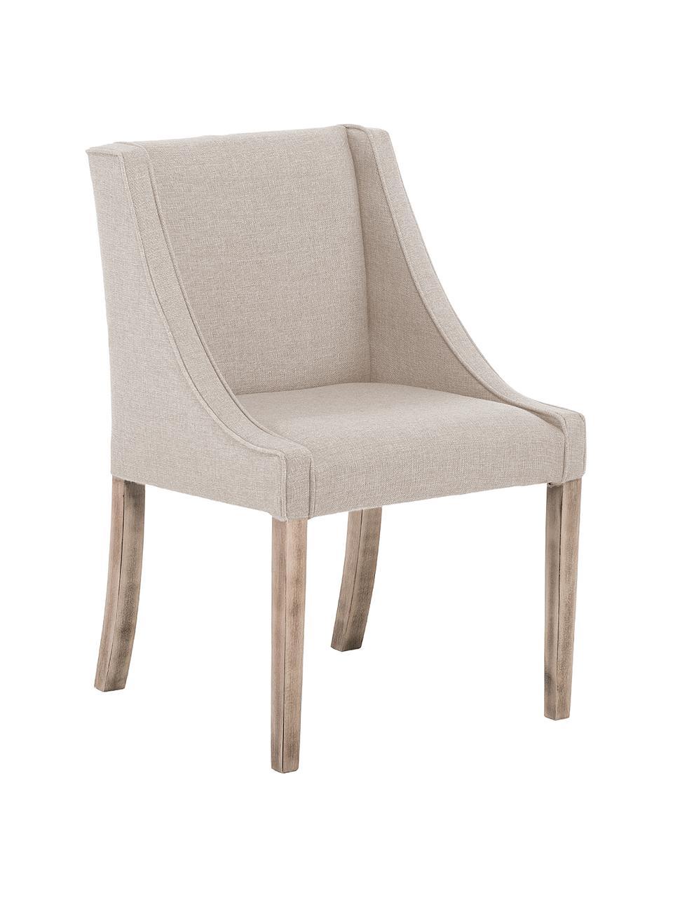 Chaise rembourrée Savannah, Revêtement: beige Pieds: marron clair