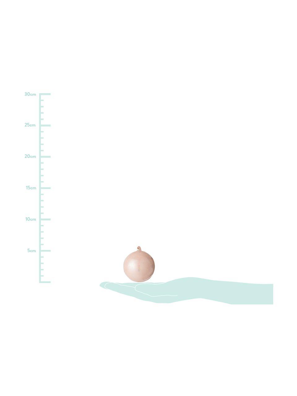Weihnachtskugeln Glint, 2 Stück, Baumanhänger: Rosa Aufhängeschlaufe: Beige, Ø 5 cm