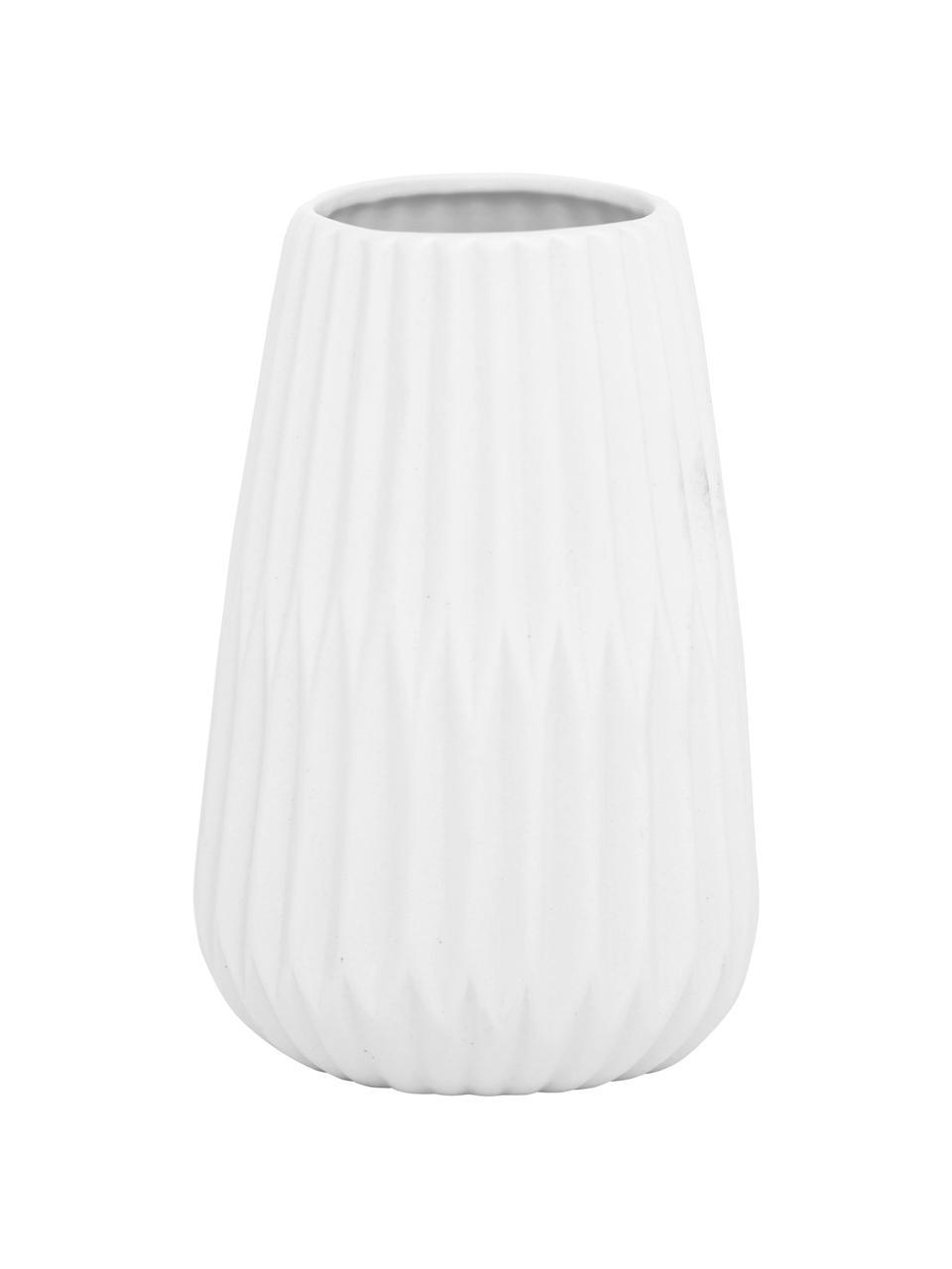 Set 2 vasi in porcellana Esko, Porcellana, Bianco, Ø 8 x Alt. 17 cm