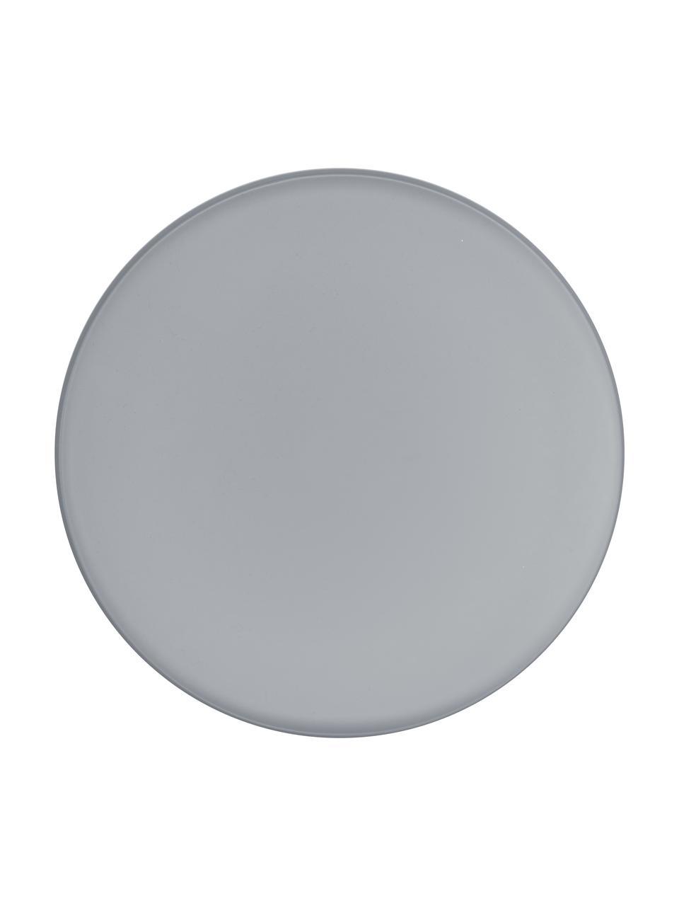 Tablett Arla, Metall, beschichtet, Grau, Ø 41 cm