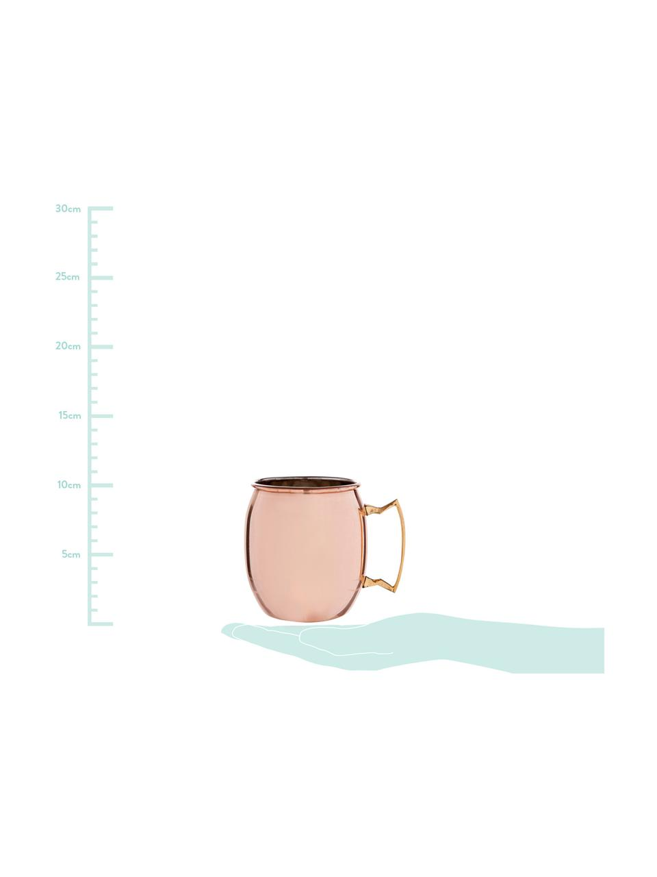 Tazza con superficie liscia Moscow Mule, Acciaio, esterno ramato, Rame, Ø 9 x Alt. 10 cm