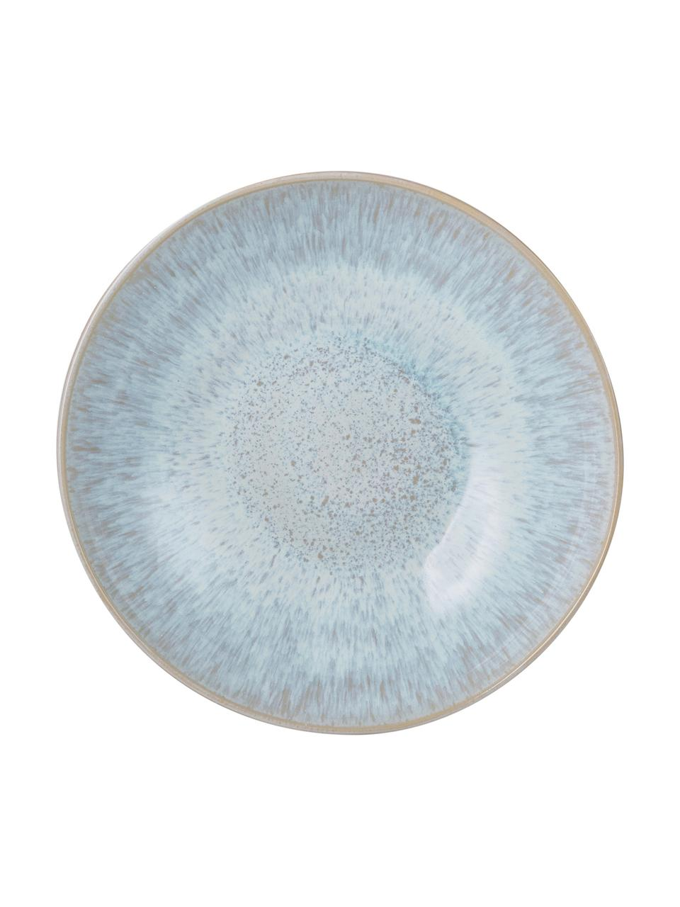 Coupe peinte à la main Areia, Bleu ciel, blanc cassé, beige clair