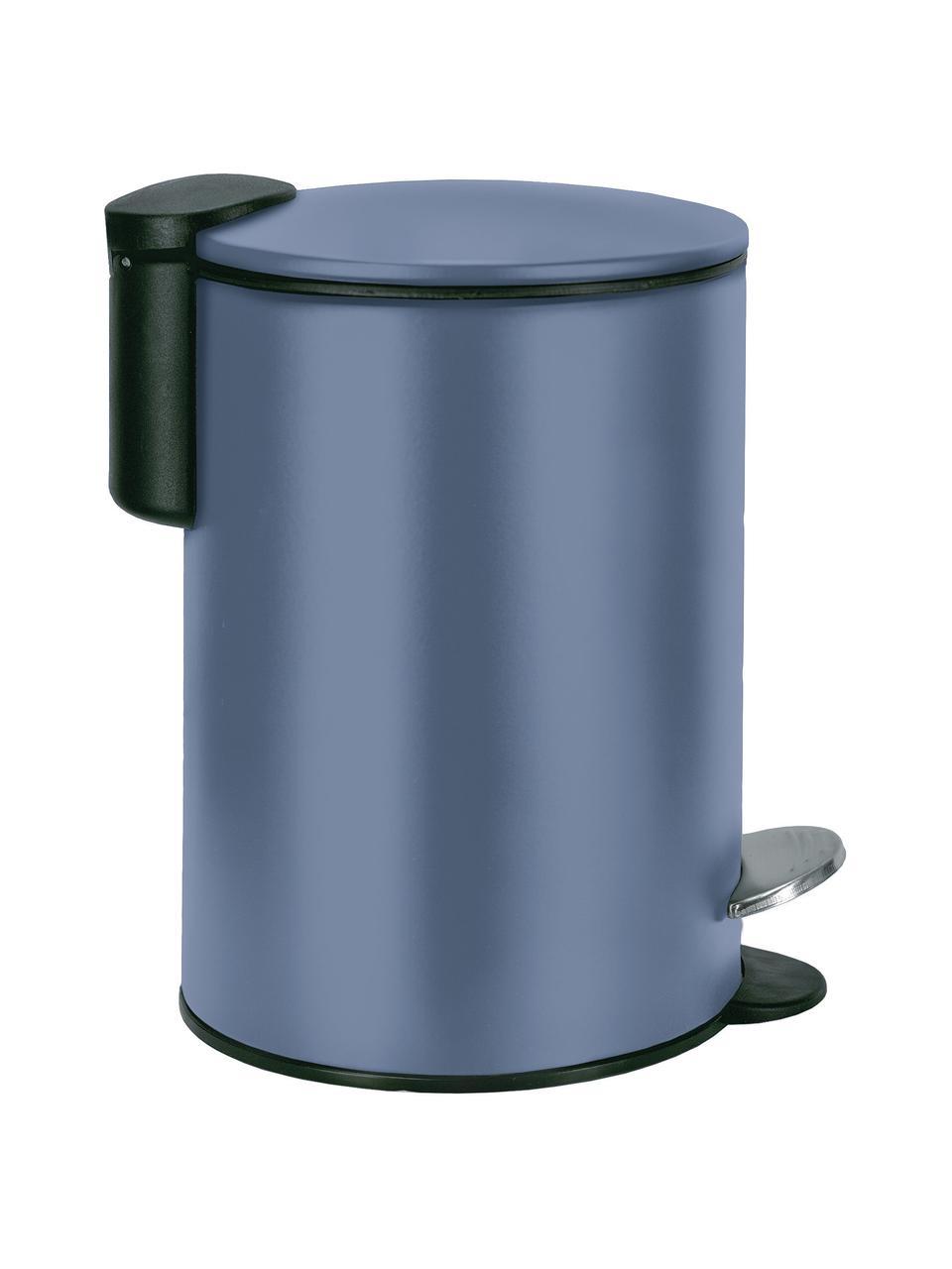 Pattumiera con pedale Silence, Metallo verniciato, Blu scuro, Ø 17 x Alt. 24 cm
