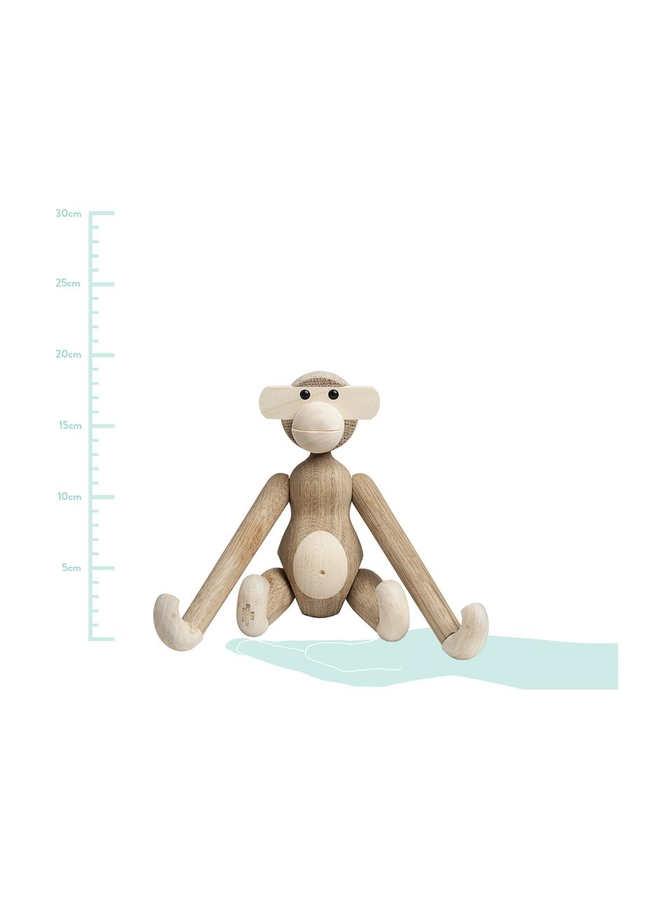 Designer-Deko-Objekt Monkey, Eichenholz, Eichenholz, Ahornholz, lackiert, Eichenholz, Ahornholz, 20 x 19 cm