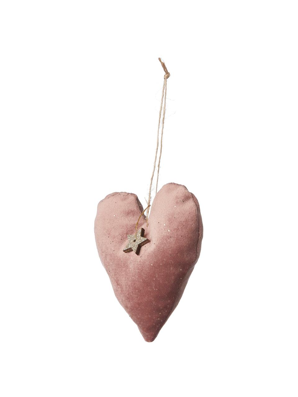 Ciondolo Fabria, 2 pz., Rosa cipria, Larg. 9 x Alt. 9 cm