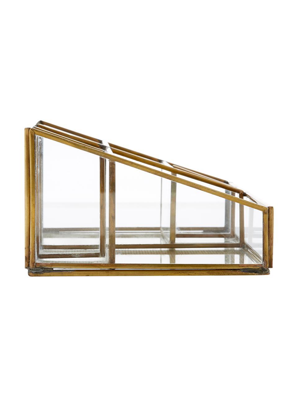 Organizzatore Sorted, Metallo, materiale sintetico, vetro, Ottone, Larg. 24 x Alt. 9 cm
