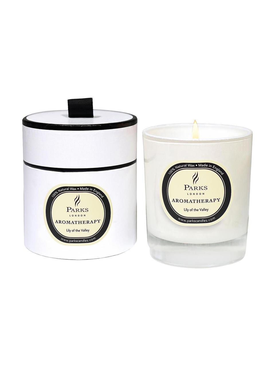 Vela perfumada Aromatherapy (lirio de los valles), Recipiente: cristal, Transparente, blanco, beige, Ø 8 x Al 9 cm