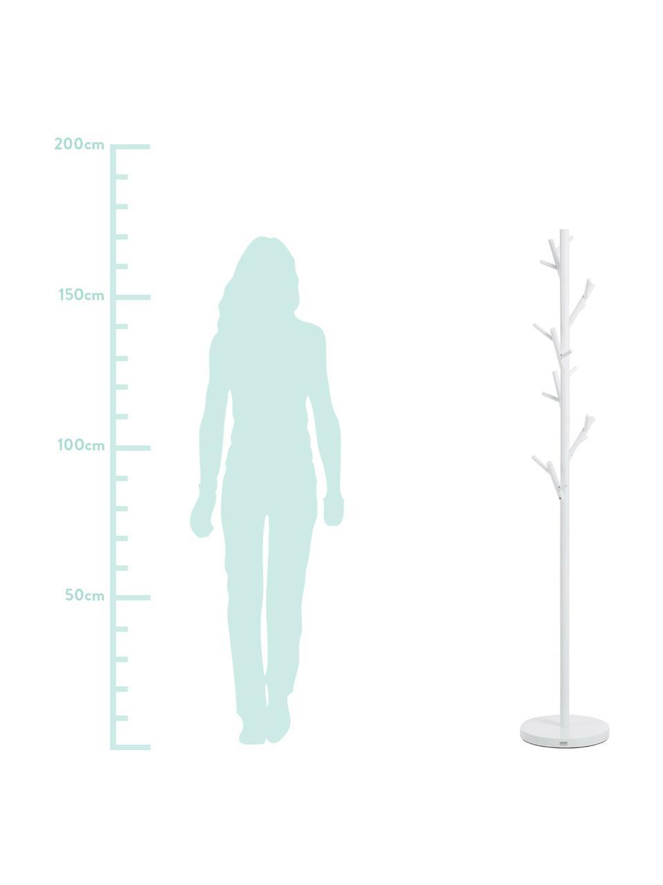 Kleiderständer Tree mit 18 Haken, Stahlrohr, pulverbeschichtet, Weiß, Ø 28 x H 170 cm