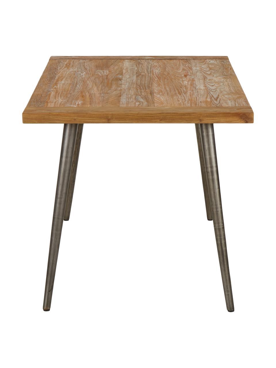Table avec plateau en bois Kapal, Bois de teck