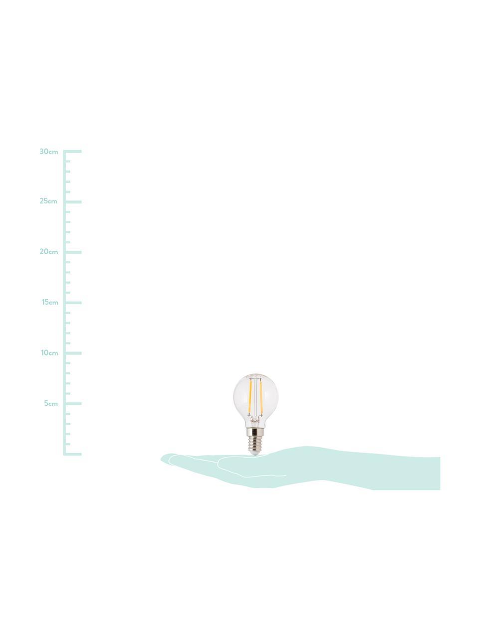 Ampoule LED E14 blanc chaud 2,5W, 1 pièce, Transparent