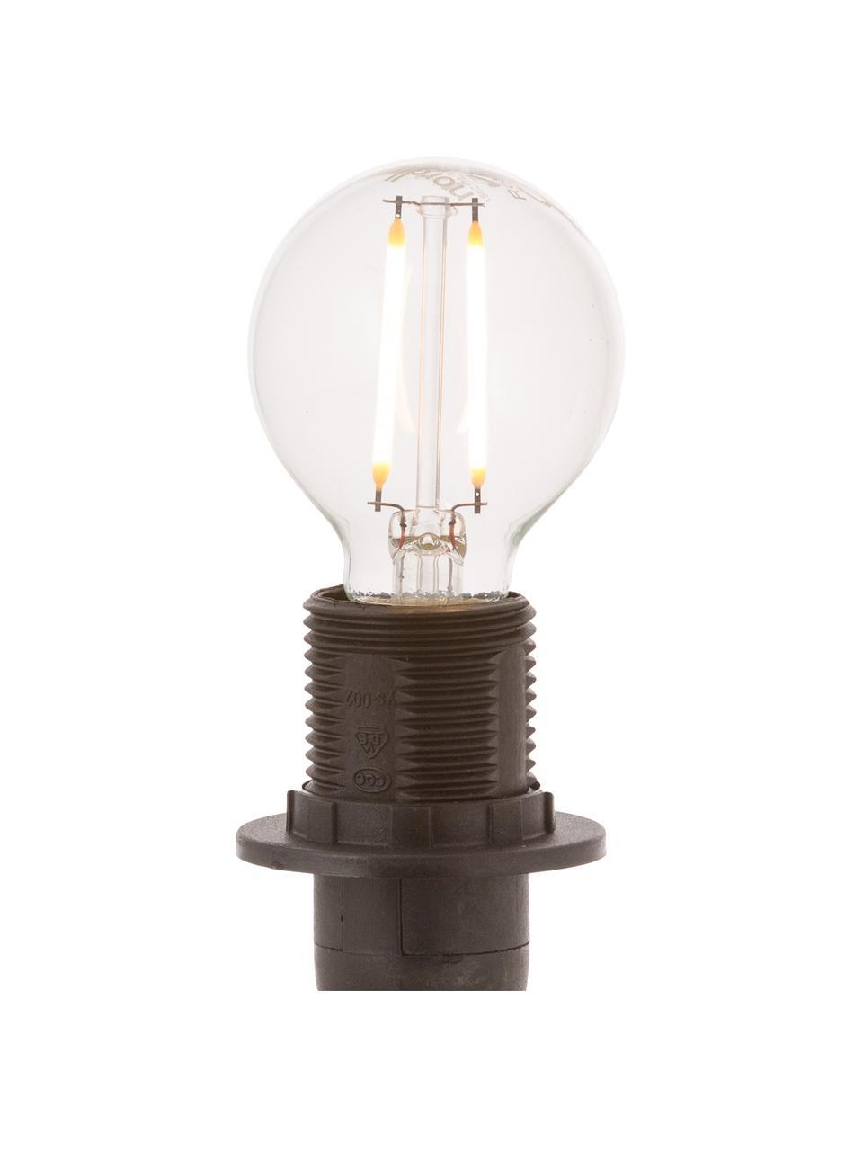 E14 Leuchtmittel, 2.5W, warmweiß, 1 Stück, Leuchtmittelschirm: Glas, Leuchtmittelfassung: Aluminium, Transparent, Ø 5 x H 8 cm