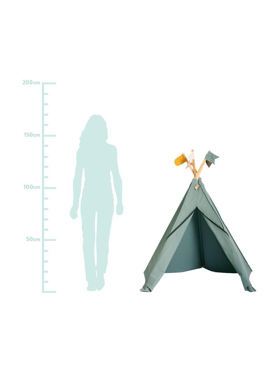 Kinder-Tipi Hippie aus Bio-Baumwolle, 100% Biobaumwolle, GOTS-zertifiziert, Grau, 135 x 135 cm