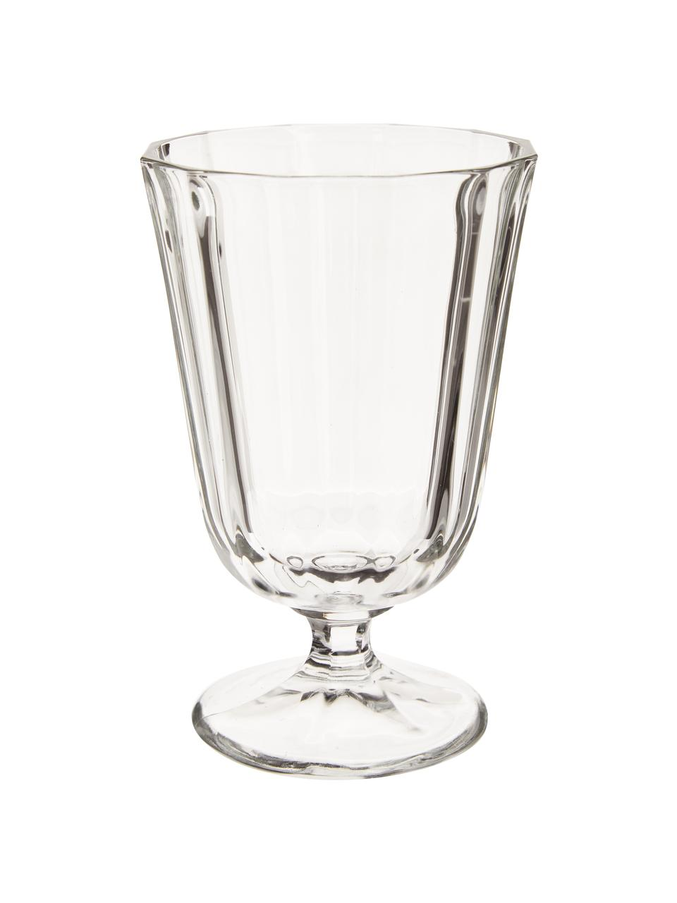 Bicchiere da vino country Ana 12 pz, Vetro, Trasparente, 195 ml