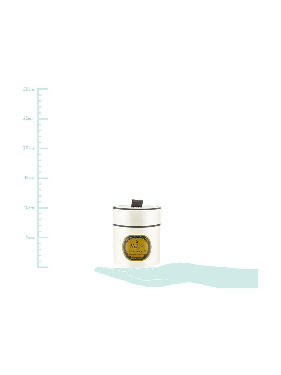 Candela profumata Aromatherapy (legno di sandalo & Ylang Ylang), Contenitore: vetro, Bianco trasparente, Ø 8 x Alt. 9 cm