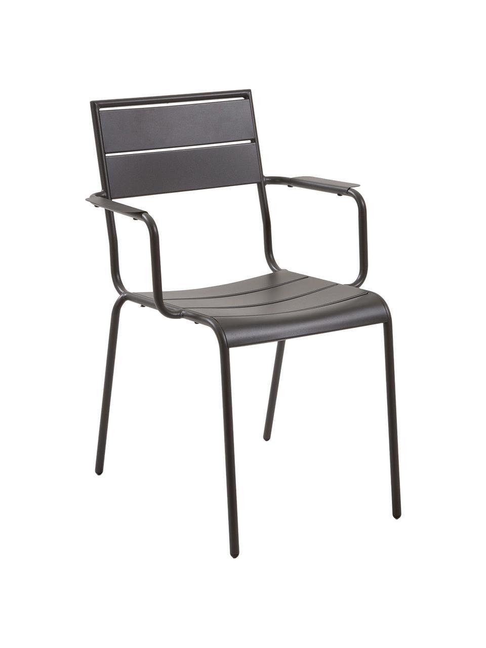 Balkonstoel Allegian Allegian van metaal, Gepoedercoat metaal, Donkergrijs, B 59 x D 65 cm