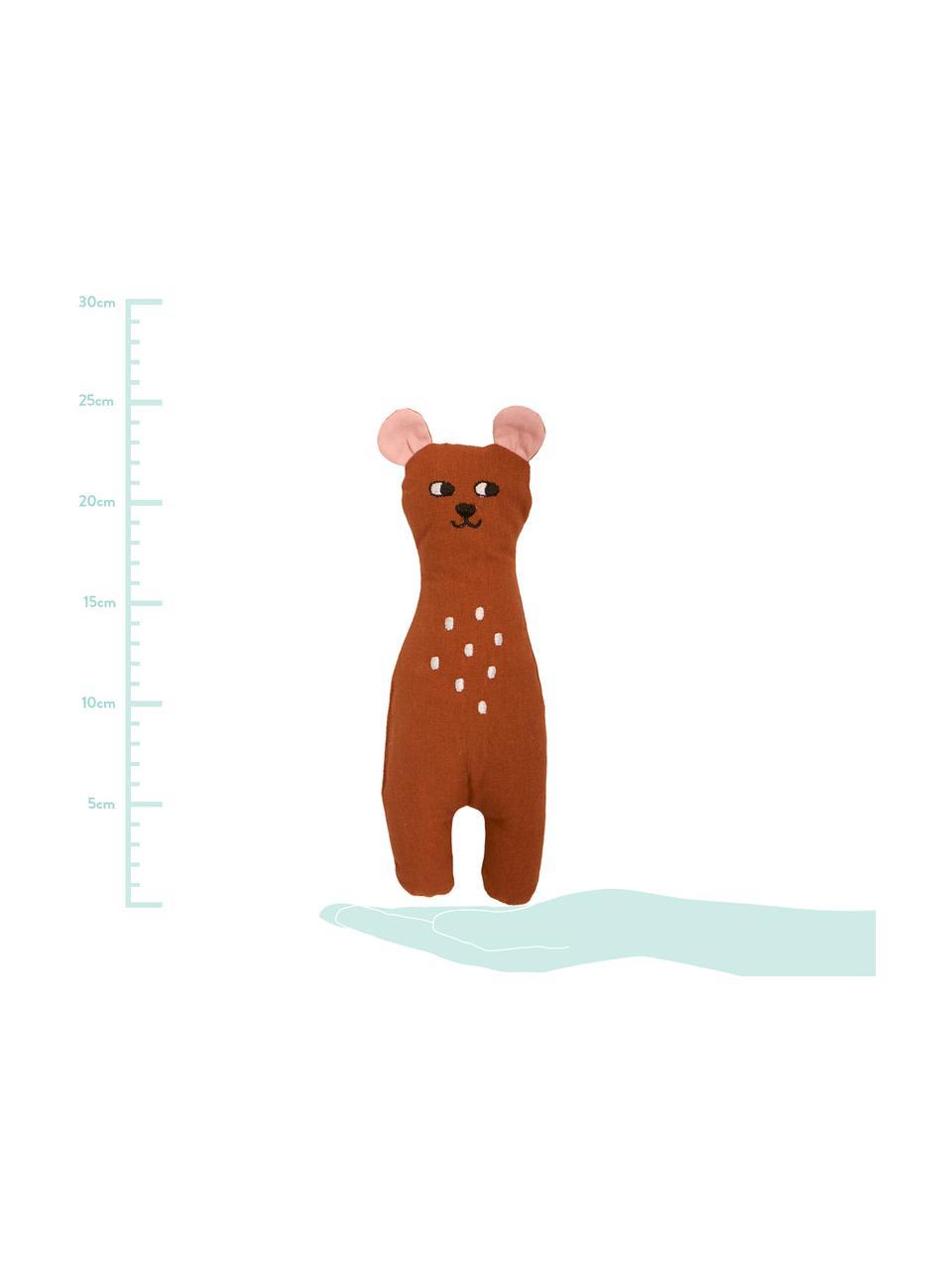 Kuscheltier Bear aus Bio-Baumwolle, Braun, 8 x 25 cm