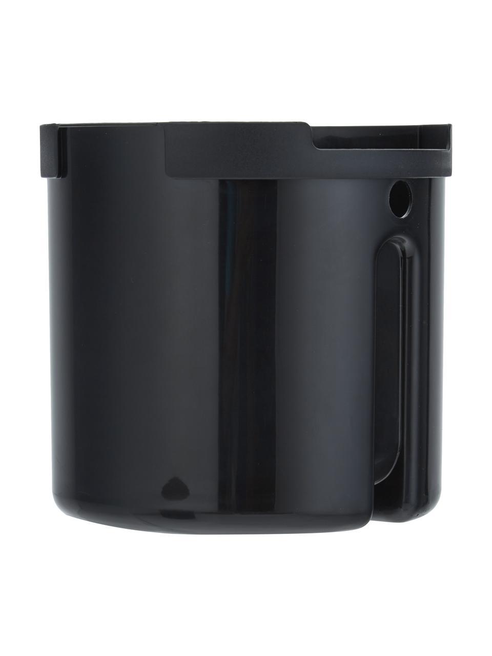 Afvalemmer Ume met pedaal functie, Kunststof (ABS), Mat zwart, Ø 20 x H 22 cm
