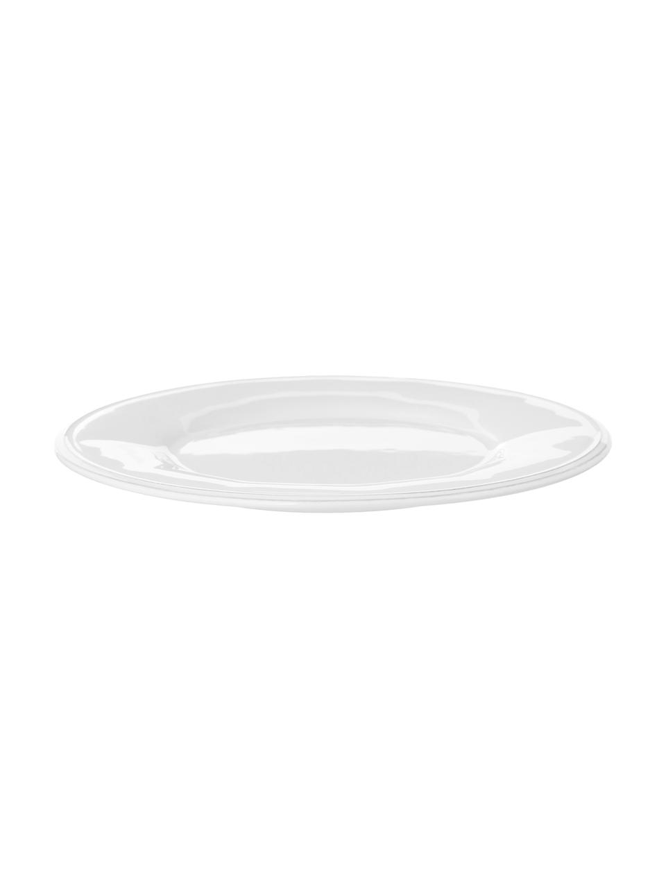 Piattino da dessert bianco Constance 2 pz, Terracotta, Bianco, Ø 24 cm