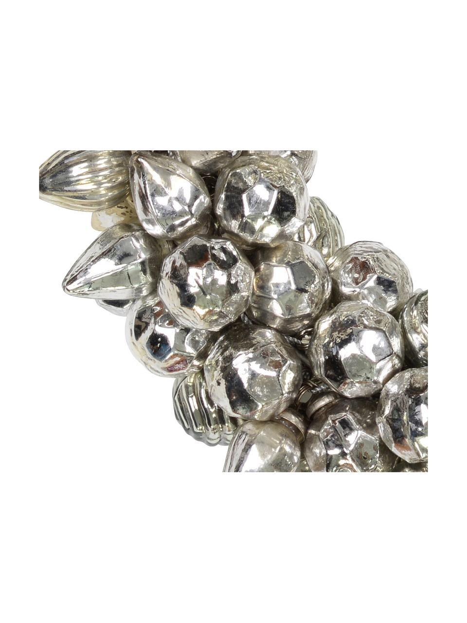 Weihnachtskranz Bells, Glas, Silberfarben, Ø 25 cm