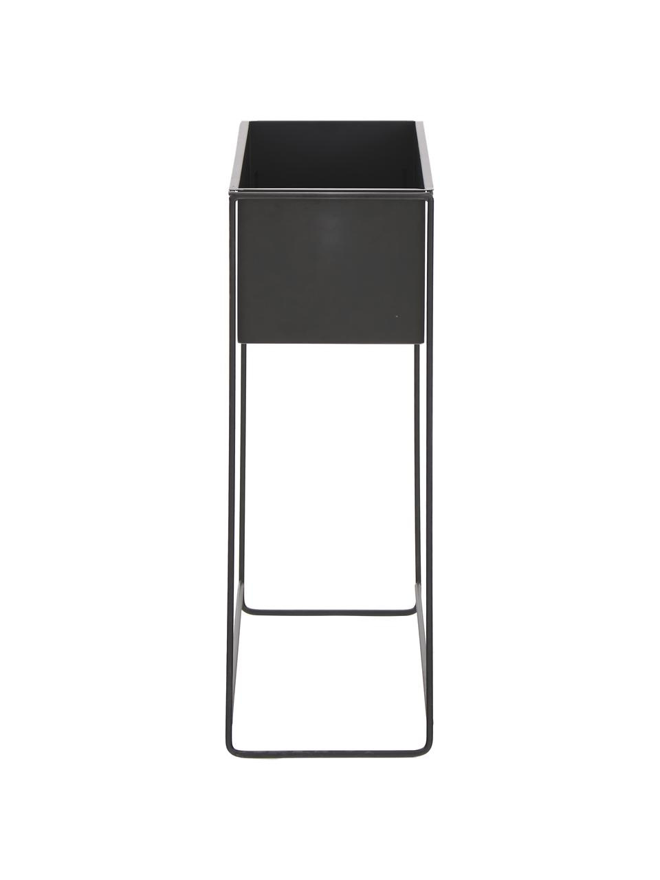 Portavaso in metallo Flina, Metallo rivestito, Nero, Larg. 51 x Alt. 65 cm