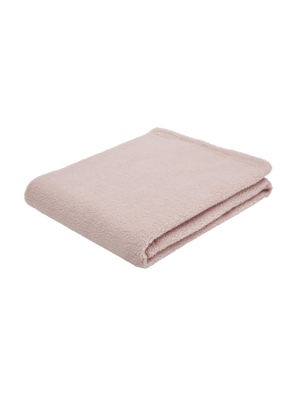 Teddy-Plaid Mille, Vorderseite: 100% Polyester (Teddyfell, Rückseite: 100% Polyester, Rosa, 150 x 200 cm